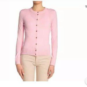 Gold Button Cardigan Peony Pink